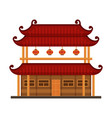 traditional chinese building ancient temple vector image vector image