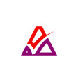 triangle letter a check logo vector image