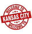 welcome to kansas city red stamp vector image vector image