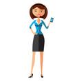 woman operator avatar customer call center concept vector image