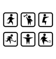 set of sport concept symbols vector image