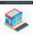 isometric barber shop building vector image