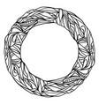 abstract hand drawn circle vector image