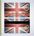 grunge flag of The United Kingdom vector image