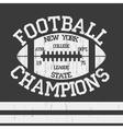 New York Sport Typography Football Logo vector image