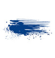 abstract blue ink grunge splatter isolated on vector image vector image