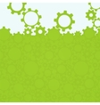 Abstract simple green gear background vector image vector image