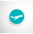 Airplane Plane symbol Travel icon vector image
