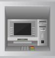atm bank cash machine 3d realistic front view atm vector image