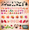 Autumn icon set design elements vector image vector image