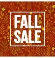 Autumn seasonal sale banner design Fal leaf vector image vector image