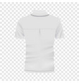 back of white polo shirt mockup realistic style vector image vector image