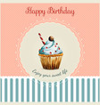 Birthday greeting card template with watercolor vector image vector image