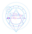 blackwork tattoo flash sacred geometry arrow and vector image vector image