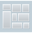 Blank postage stamps in different size vector image vector image