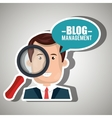 blog management design vector image vector image