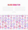 blood donation mutual aid concept vector image vector image