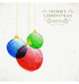 Christmas oil pastel baubles hand drawn vector image vector image