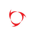 circle curves arrows rotation design logo vector image vector image