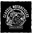 classic motorcycles poster vector image vector image