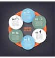 colorful loop infographic template vector image vector image