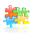 colorful shiny puzzle eps 10 vector image