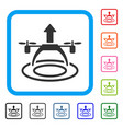copter start framed icon vector image