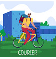 courier service poster vector image vector image