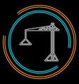 crane icon - construction crane vector image