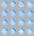 Create snowflake icons on button vector image