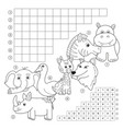 crossword coloring book page education game for vector image