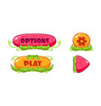 cute glossy jelly buttons set user interface vector image vector image