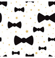 cute hipster bow tie seamless pattern vector image vector image