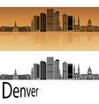 Denver skyline in orange vector image vector image