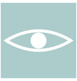 eye the white color icon vector image
