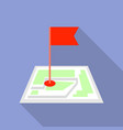 flag map pin icon flat style vector image
