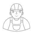 Foreman icon in outline style isolated on white vector image vector image