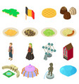 germany travel icons set isometric style vector image vector image