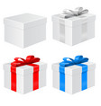 gift box set with colored ribbons vector image