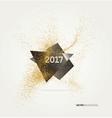 Gold glitter confetti vector image