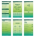 green set mobile user interface design vector image vector image