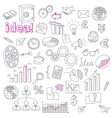 Hand Drawn Business Doodles set vector image