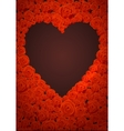 Happy Valentines Day Lettering Card Dark Heart vector image
