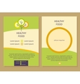 Healthy food Template flyer vector image vector image
