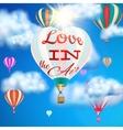 Heart shaped air balloon EPS 10 vector image vector image