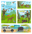 hunting open season africa safari hunt ammo vector image vector image