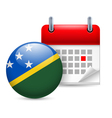 Icon of National Day in Solomon Islands vector image vector image