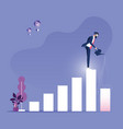 investment and finance growth business concept vector image