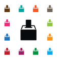 isolated voting box icon ballot element vector image