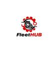 mechanic truck logo designs simple vector image